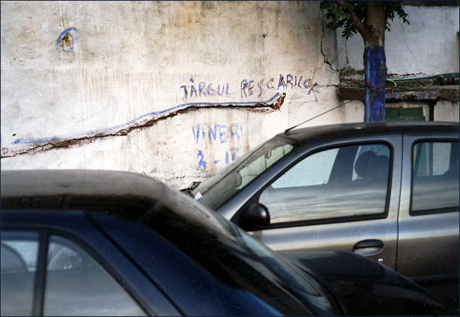 Bucharest, fish market, cars