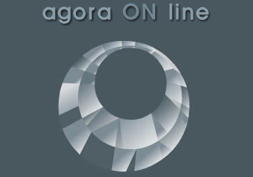 agora ON line: logo (2003)