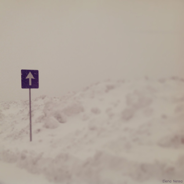 Blizzard, outskirts of Bucharest